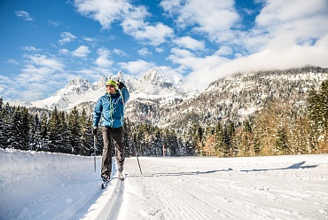 Cross country skiing for big and small